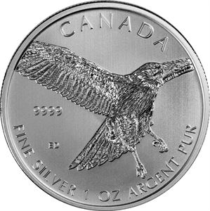 Picture of 1 oz Silver Canadian Redtail Hawk