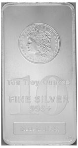 Picture of 10 oz Silver Morgan Mint Bar