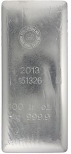Picture of 100 oz RCM Silver Bar