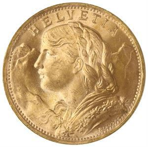 Picture of Gold Swiss 20 Franc