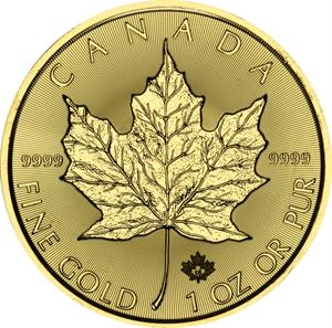 Picture of 1 oz Gold Maple Leaf