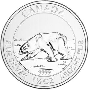 Picture of 1.5 oz Silver Polar Bear
