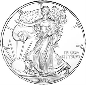 Picture of 1 oz Silver Eagle (Common Dates, Our Choice)