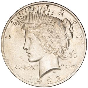 Picture of BU US Silver Dollar Peace