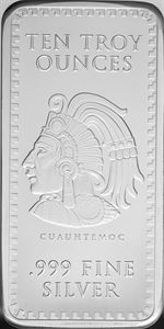 Picture of 10 oz Silver Aztec Bar