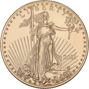 Picture of 1 oz Gold American Eagle - 2021 Type 1 Reverse
